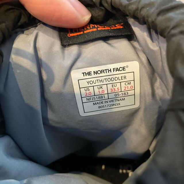 THE NORTH FACE(ザノースフェイス)のノースフェイス THE NORTH FACE ヌプシ ブーティー キッズ 21㎝ キッズ/ベビー/マタニティのキッズ靴/シューズ(15cm~)(ブーツ)の商品写真