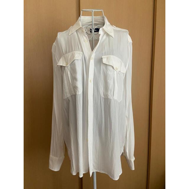POLO RALPH LAUREN(ポロラルフローレン)のRalphLauren 白シャツ ブラウス レディースのトップス(シャツ/ブラウス(長袖/七分))の商品写真