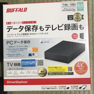 Buffalo - HD-EDS6U3-BC バッファロー 外付けHDD 6TB