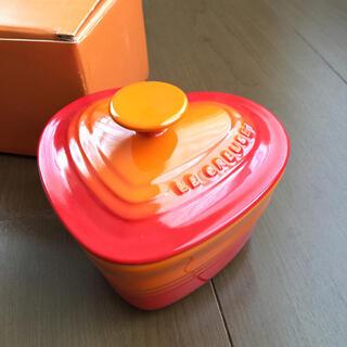 ルクルーゼ(LE CREUSET)の【新品·未使用】ル・クルーゼ ラムカン・ダムール(S・フタ付き) オレンジ(食器)