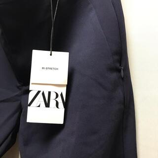 ZARA - 【Mサイズ・新品】ZARA bi-stretch テーパードトラウザー紺