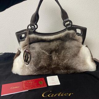 Cartier - 美品‼︎ カルティエ マルチェロ ラビットファー ハンドバッグ
