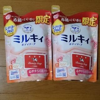 牛乳石鹸 - ミルキィ ボディソープ うるおうカウブランド赤箱の香り 詰替用(400mL)