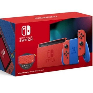 Nintendo Switch - 新品 2/28購入 匿名対応 ニンテンドースイッチ マリオレッド×ブルー セット