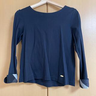 バーバリーブルーレーベル(BURBERRY BLUE LABEL)のBURBERRY BLUE LABEL ネイビー インナー ブラウス(シャツ/ブラウス(半袖/袖なし))