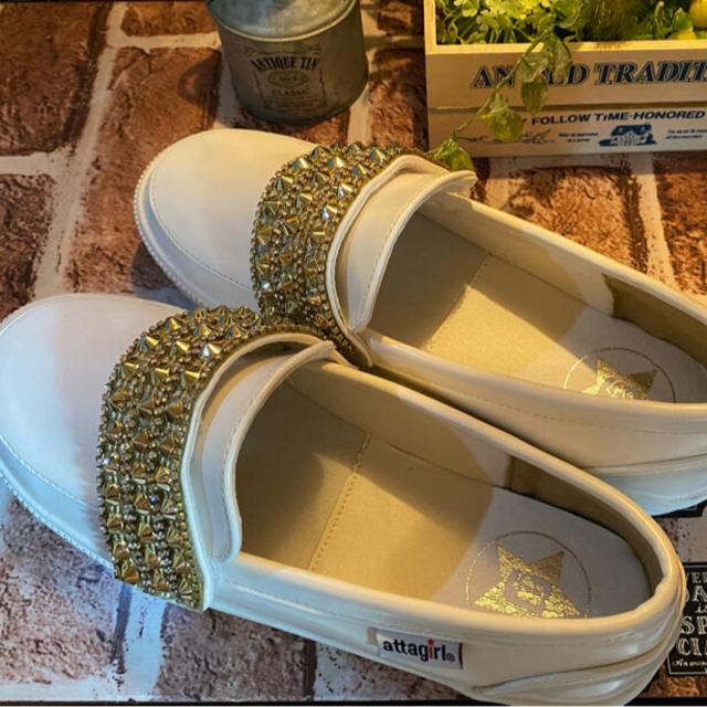 ローファー ビジュー付き レディースの靴/シューズ(ローファー/革靴)の商品写真