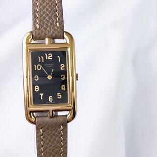 Hermes - 【仕上済】エルメス ナンタケット K18 YG 黒文字盤 レディース 腕時計