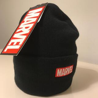 マーベル(MARVEL)の激レア!新品未使用マーベルMARVEL BOXLOGOニットキャップ(ニット帽/ビーニー)