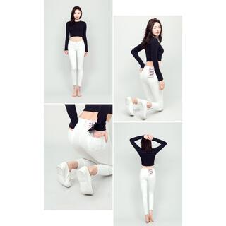 チュー(CHU XXX)のChuu-5kgジーンズ♡ホワイト 28インチ(デニム/ジーンズ)
