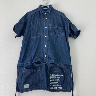 リベットアンドサージ(rivet & surge)のrivet&surge カフェエプロン風シャツ デニム(Tシャツ(半袖/袖なし))