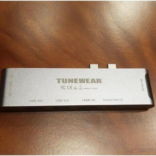 オールマイティ(ALMIGHTY)のTunewear Macbook Pro/Air用USB-Cハブ(PC周辺機器)