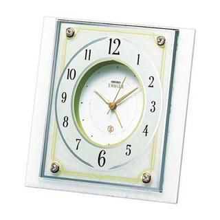 セイコー(SEIKO)のSEIKO EMBLEM(セイコーエンブレム) 大理石枠目覚まし時計 HR584(置時計)