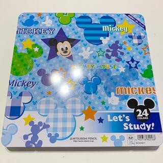 ディズニー(Disney)のMITSUBISHI ミッキーマウス 24色 色鉛筆(色鉛筆)