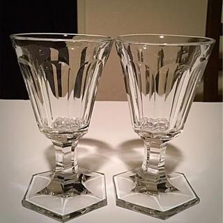 Baccarat - 1841年〜 オールドバカラ 【Conique No.306】ワイングラス 2脚