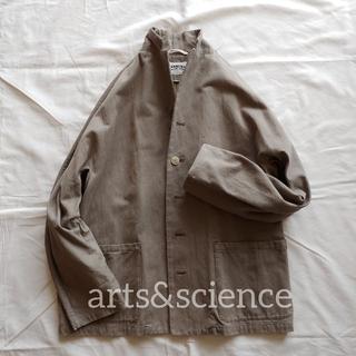 arts&science■コットン テーラードジャケットsize3khaki