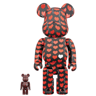 MEDICOM TOY - BE@RBRICK Black Heart 100% & 400%