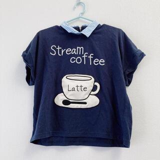 リベットアンドサージ(rivet & surge)のrivet&surge コーヒーカップ カフェラテ Tシャツ ネイビー(Tシャツ(半袖/袖なし))