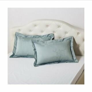 ニッセン(ニッセン)のピローケースカバー 綿混 サテン ダマスク柄 1枚 35×50cm用 ピロー35(枕)