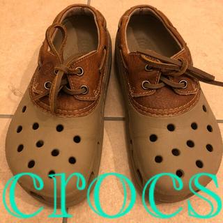 crocs - 新品 クロックス レア 革靴