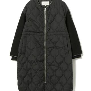 Ray BEAMS - レイビームス  袖切り替えキルティングコート 黒