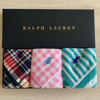 Ralph Lauren - ラルフローレン☆タオルハンカチ 3枚セット