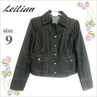 レリアン(leilian)の【Leilian】ブラックステッチ入りデニムジャケット*レリアン*日本製*9(Gジャン/デニムジャケット)