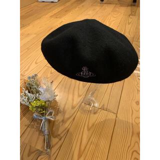 Vivienne Westwood - 週末最終SALE❣️ラスト一点 ヴィヴィアンウェストウッドベレー帽 ブラック