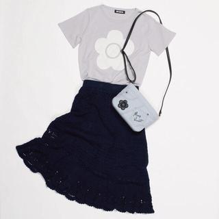 マリークワント(MARY QUANT)の新品 マリークワント クロシェデイジー スカート ネイビー (ひざ丈スカート)