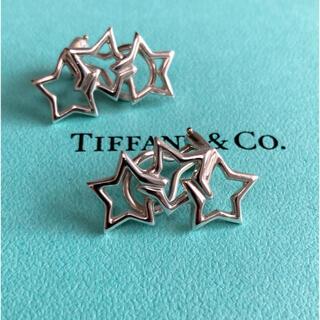 Tiffany & Co. - ティファニー 3連 スター イヤリング