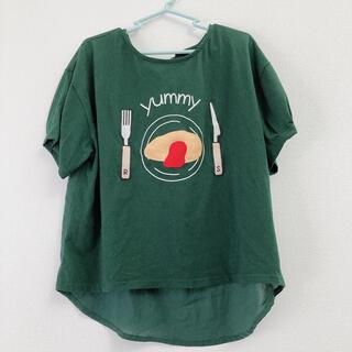 リベットアンドサージ(rivet & surge)のrivet&surge オムライス バックリボンTシャツ グリーン(カットソー(半袖/袖なし))