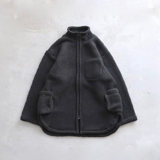 COMOLI(コモリ)のporter classic zip fleece shirts jacket黒 メンズのジャケット/アウター(ブルゾン)の商品写真