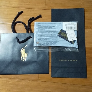 Ralph Lauren - 新品正規品ラルフローレン インナーマスク ブルー無地 ギフトショップ袋つき