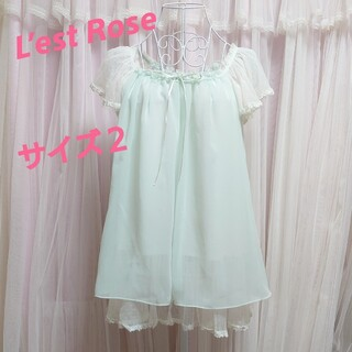 レストローズ(L'EST ROSE)のL'est Rose ライトグリーン ゆめかわ ブラウス(シャツ/ブラウス(半袖/袖なし))