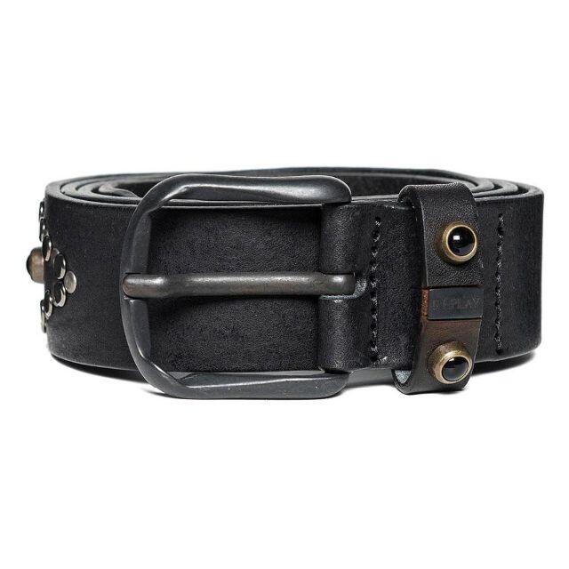 Replay(リプレイ)の【新品未使用】2.2万 REPLAY/リプレイ ベルト 牛革 黒 ブラック 75 メンズのファッション小物(ベルト)の商品写真