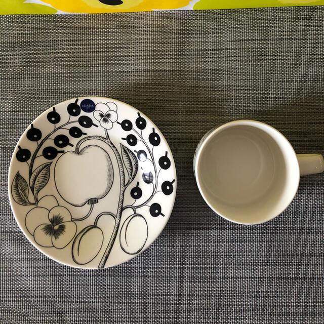 ARABIA(アラビア)のアラビア ARABIA ブラック パラティッシ ティーカップ&ソーサー(プレート インテリア/住まい/日用品のキッチン/食器(食器)の商品写真