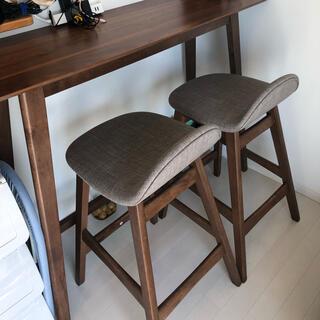 ニトリ(ニトリ)の【みさと様専用】カウンターテーブルと椅子二脚(バーテーブル/カウンターテーブル)