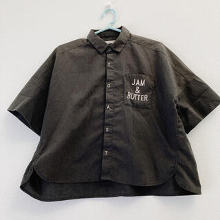 リベットアンドサージ(rivet & surge)のrivet&surge トースト パン 半袖シャツ ブラック カフェ風(シャツ/ブラウス(半袖/袖なし))