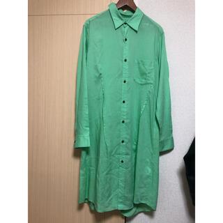 Yohji Yamamoto - Sulvam★20ss ロングシャツ グリーン