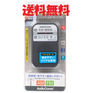 オームデンキ(オーム電機)のポケットラジオ RAD-P132N-H 携帯ラジオ ポータブルラジオ 201(ラジオ)