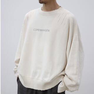 1LDK SELECT - stein 20aw OVERSIZED REBUILD SWEAT LS