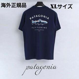 patagonia - 海外正規品 即日発送 patagonia 半袖Tシャツ ネイビー XLサイズ