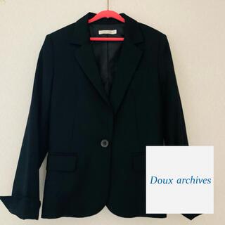 ドゥアルシーヴ(Doux archives)のDoux archives★ジャケット/黒/サイズ38/秋〜冬(テーラードジャケット)