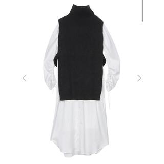 Ameri VINTAGE - Amerivintage  VEST LAYERED SHIRT DRESS