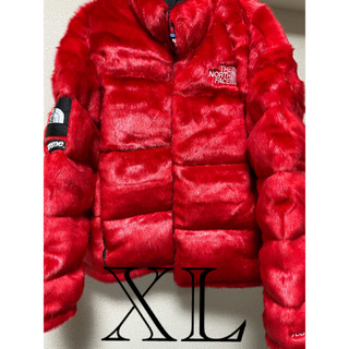 Supreme - 稀少XL Supreme North FaceFaux Fur Nuptse
