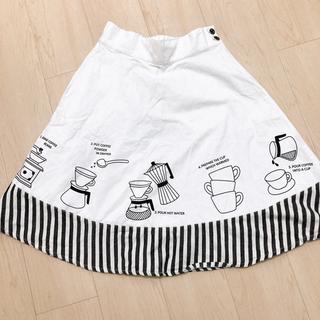 リベットアンドサージ(rivet & surge)のrivet&surge カフェ風 スカート 2枚セット ホワイト ネイビー(ひざ丈スカート)