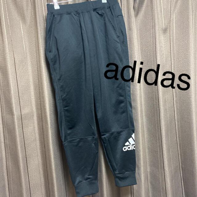 adidas(アディダス)のadidas 黒のジャージ パンツ スポーツ/アウトドアのトレーニング/エクササイズ(ヨガ)の商品写真