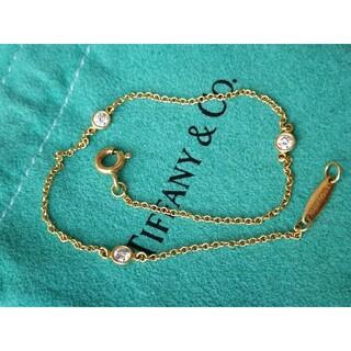 Tiffany & Co. - ティファニー バイザヤード ブレスレット K18YG 3Pダイヤ