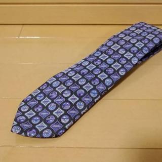 エミリオプッチ(EMILIO PUCCI)の美品エミリオプッチ正規品   紫色系   PUCCIデザイン柄ネクタイ(ネクタイ)