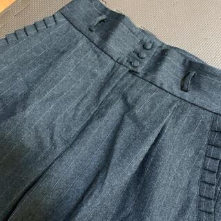 ドットアンドストライプスチャイルドウーマン(Dot&Stripes CHILDWOMAN)のポケットフリル テーパードパンツ グレー(カジュアルパンツ)