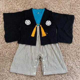 羽織 袴ロンパース 男の子 80